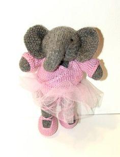Elephant Ballerina knitting project shared on the LoveKnitting Community