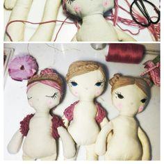 Ballerinas. #ursulanieto. Handmade doll