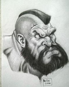 Zangief -sketching