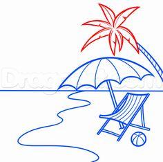 how to draw a beach scene step 11