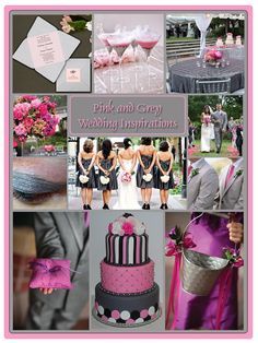 pink and grey wedding :)