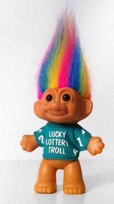 Russ Lucky Lottery Rainbow Troll Doll by swellN on Etsy