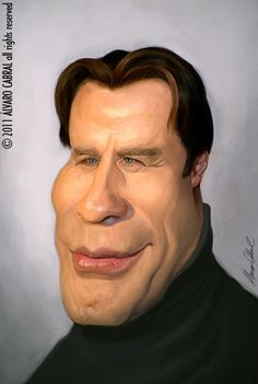 TOONPOOL Cartoons - John Travolta by alvarocabral, tagged caricature - Category Famous People - rated /