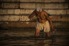 Morning bath in The Ganges - Varanasi India Photography by Nick Laborde