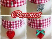 """""""Rosenrot"""" Halsband 1-154+155+156+157"""