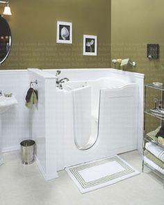 Close up of a Luxury Bath walk-in tub