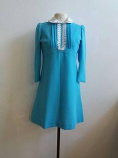 Guarda questo articolo nel mio negozio Etsy https://www.etsy.com/it/listing/556258543/lucy-in-the-sky-little-dress-vintage-60s