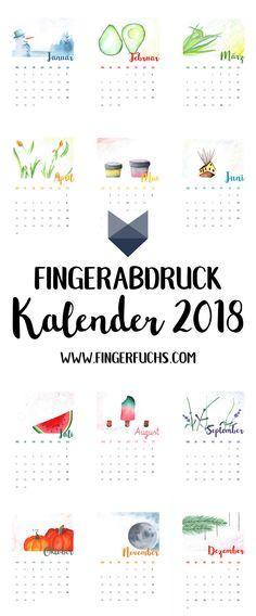 Dein Fingerstempel-Kalender - Ein kreativer Kalender, den du mit ein paar Fingerabdrücken personalisieren kannst. Super als Geschenk geeignet! Spaßfaktor garantiert :) Klicke hier um die kostenlose Bastelvorlage für dem Kalender herunterzuladen.