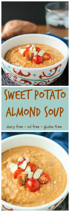 Sweet Potato Almond Soup