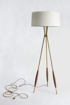 Mulberry tripod floor lamp from Schoolhouse Electric, featured by Refinery29.