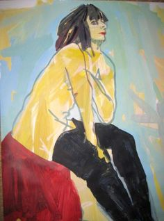 Female Study by Tom Early, acrylic on paper collage, 24X37, unmounted, $600. . . . . . . . contemporary art for sale, palm springs, art, art gallery, art collector, fine art, modern art, abstract art, abstract painting, contempory painting, interiors, interior design, interior decor, interior design ideas, interior designer, los angeles art, losangeles design, los angeles interior designer