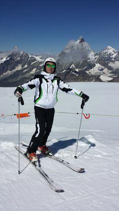 Andrea Oddo in Breuil Cervinia in Valtournenche, Valle d'Aosta, Italia