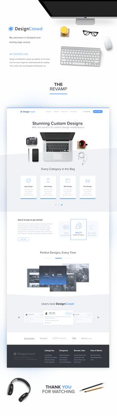 DesignCrowd WebPage Submission on Behance