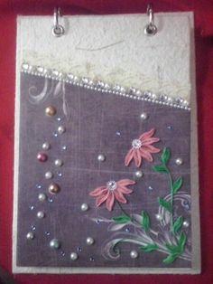 Bloquinho de papel artesanal quilling 1