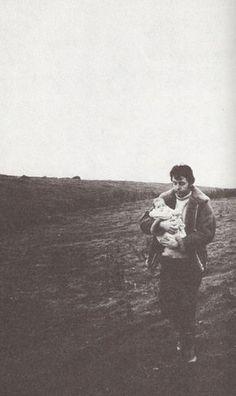 Paul and baby Mary McCartney. Mull of Kintyre, Scotland. 1969. Photograph by Linda McCartney.