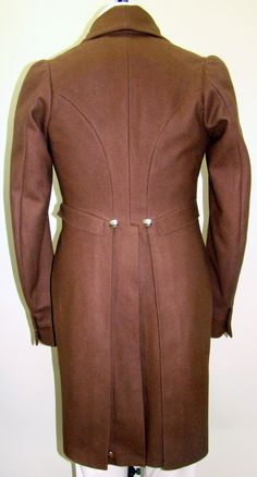 This is the sewing pattern Laughing Moon Mercantile #121 Men's Regency Tailcoat.  This pattern is a copy of the original coat shown in the other photos in this board.