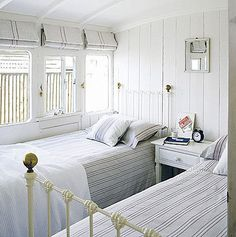 lake cottage bedroom..wouldn't want it in my house, but would be lovely for a summer cabin