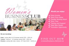 WANTED: Successful biz women to join our team as an addon to an existing business  http://www.womensbusiness.club/join-us/?utm_content=buffer57626&utm_medium=social&utm_source=pinterest.com&utm_campaign=buffer #wombizclub