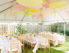 Pink and Yellow Garden Baby Shower by Browntography // Inspired by This