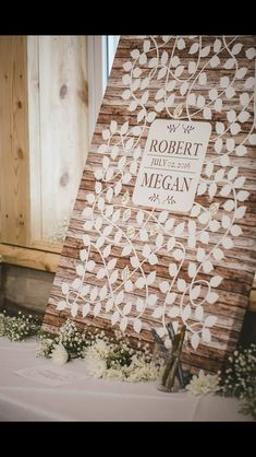 LOVE this for guest book idea! Could we make this? She might not share the names, but we could put Schoenfish...?