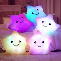 Plush Colorful LED Light Star Shape Throw Pillow Home Sofa Party Decor Toys Gift #Unbranded