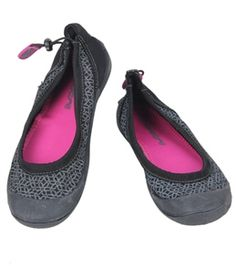 Cudas Women's Catalina Skimmer Water Shoes | On Swim Outlet for $18.95 | The Cuads® Women's Catalina Skimmer Water Shoes are the cutest, most functional water shoes you'll ever own.  Lo-profile skimmer watershoe. Toe and heel bumper for extra protection. Grip outersole in anti-slip and non-marking. Elasticized topline with rear pull tab adjustment for snug fit. Imported.