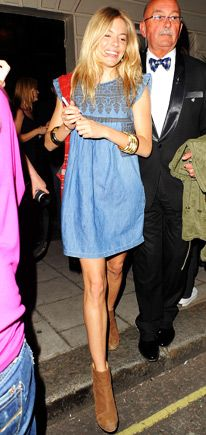 Sienna Miller in an Isabel Marant- chambray dress
