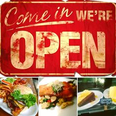 We are open come on in.