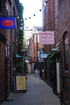 Chester's unique shopping & dining experience on Godstall Lane across from our gorgeous Cathedral ~Chester, England~
