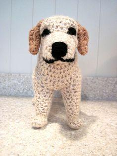 crocheted labrador retriever pdf pattern digital download english only
