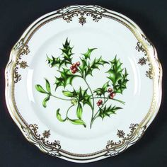 K--Spode Stafford Flowers Holiday Salad Plate