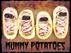 Halloween Mummy Potatoes with Meatballs