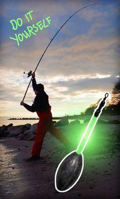 Phosphoreszierende Brandungsbleie selber bauen   DIY glowing surfcasting weights