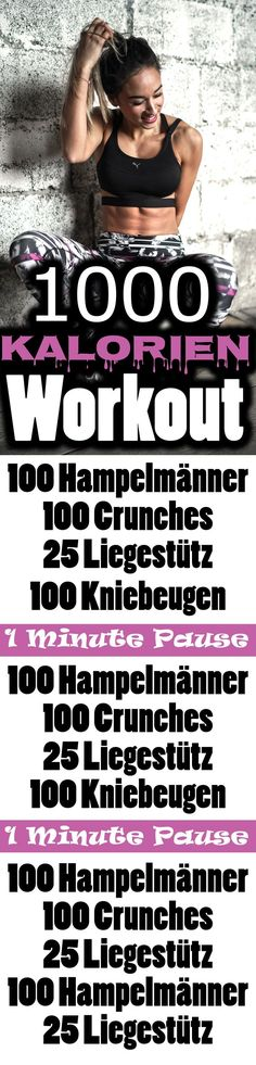 Workout für Zuhause – 1000 Kalorien verbrennen – Bauch Beine Po und Oberkö… Workout at home – burn 1000 calories – abdominal legs exercise buttocks and upper body. Fitness Workouts, Sport Fitness, Easy Workouts, At Home Workouts, Fitness Motivation, Health Fitness, Body Fitness, Step Sport, Burn 1000 Calories
