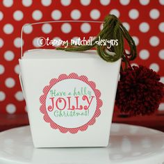 holly jolly christmas gift idea with free printable tag and where to buy white take out boxes for gifts