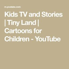 Kids TV and Stories | Tiny Land | Cartoons for Children - YouTube Peppa Pig Full Episodes, Rebecca Rabbit, Kids Tv, Cartoons, Children, Blouse, Youtube, Young Children, Cartoon