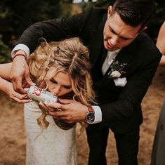 Wedding Pics - Gallery of absolutely must-have wedding photos to have in your wedding pictures album. Build your checklist and share these with your wedding photographer. Beer Wedding, Wedding Humor, Wedding Wishes, Cowgirl Wedding, Camo Wedding, Wedding Quotes, Funny Wedding Favors, Wedding Invitations, Funny Wedding Photos