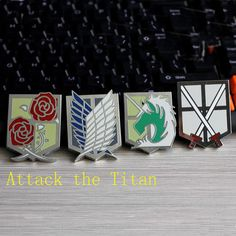 New Fashion Japan Anime Jewelry Attack On Titan Pins Brooch  legions badge unicorn lapel pin Brooches For Fans Collection