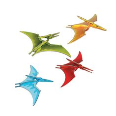 No, Pterodactyl! Send your guests running for cover when you hang these foam Pterodactyl Dinosaur Danglers with your dinosaur party decorations. Each Pterodactyl measures 21 inches by inches when assembled. Dinosaur Train Party, Dinosaur Kids Room, Dinosaur Birthday Party, 3rd Birthday, Birthday Ideas, Dinosaur Classroom, Dinosaur Bedroom, Birthday Stuff, Birthday Parties