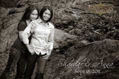 Engagement Photo - Lesbian Couple - Gay Marriage - Black & White - Outdoor - New York - By Ron Soliman Photojournalism