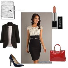 Professional and chic look for the teacher makeover fashion mission, all for under 250$!