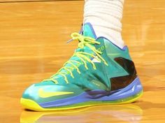 a92bed83d2e2 Green Volt Lebron James James Debuts Nike Cheap Lebron James X 10 Shoes  Elite