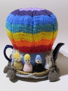 Hot Air Balloon Tea Cozy (Paid pattern available. A finished cozy had been for sale on etsy as well, but has since sold.)