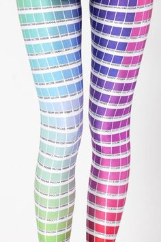 Color Chart Leggings  Designer: James Lillis   Made in: Australia  So sad this product is no longer being made :-(  a day late and a dollar short ...
