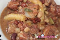 Stew Peas...this food is Hot hot hot!!