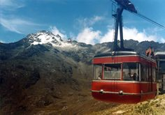 Cable Car in Bolivar Peak, the highest in Venezuela.