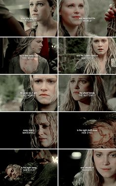 every time she closed her eyes. Best Tv Shows, Best Shows Ever, Movies And Tv Shows, The 100 Quotes, Tv Quotes, U Book, The 100 Characters, Robin Hood Bbc, 100 Memes