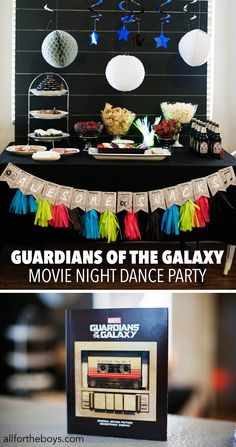 Guardians of the Galaxy movie night dance party. I absolutely love themed parties!