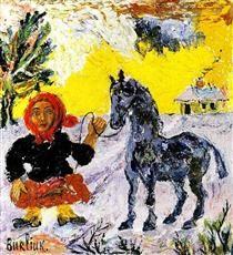 Blue Horse - David Burliuk