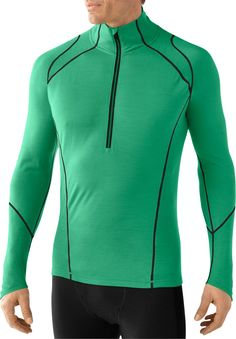 Stay warm to your core during the game. SmartWool NTS Light 195 Zip-T Long Underwear Top - Men's.